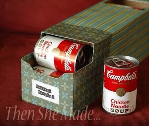 Decorate an old soda case and turn it into the cutest canned food organizer for your pantry!