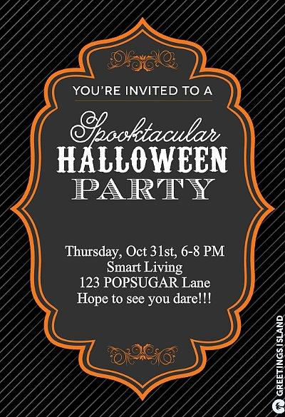 Halloween Party Invite Greetings Island has tons of free Halloween invitation ideas available to fit the feel of your spooky bash. This is one of our favorites, but there are over 20 more!