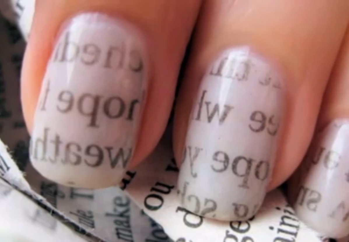 This will add letters to your nails. Just remember to wash your hands first and to clean up any excess nail polish after :-)