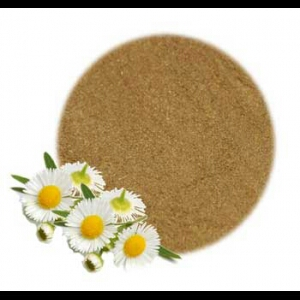 Chamomile flowers blended into a powder. Its easy to DIY or you can purchase the powder at your local natural health store or online at Amazon.