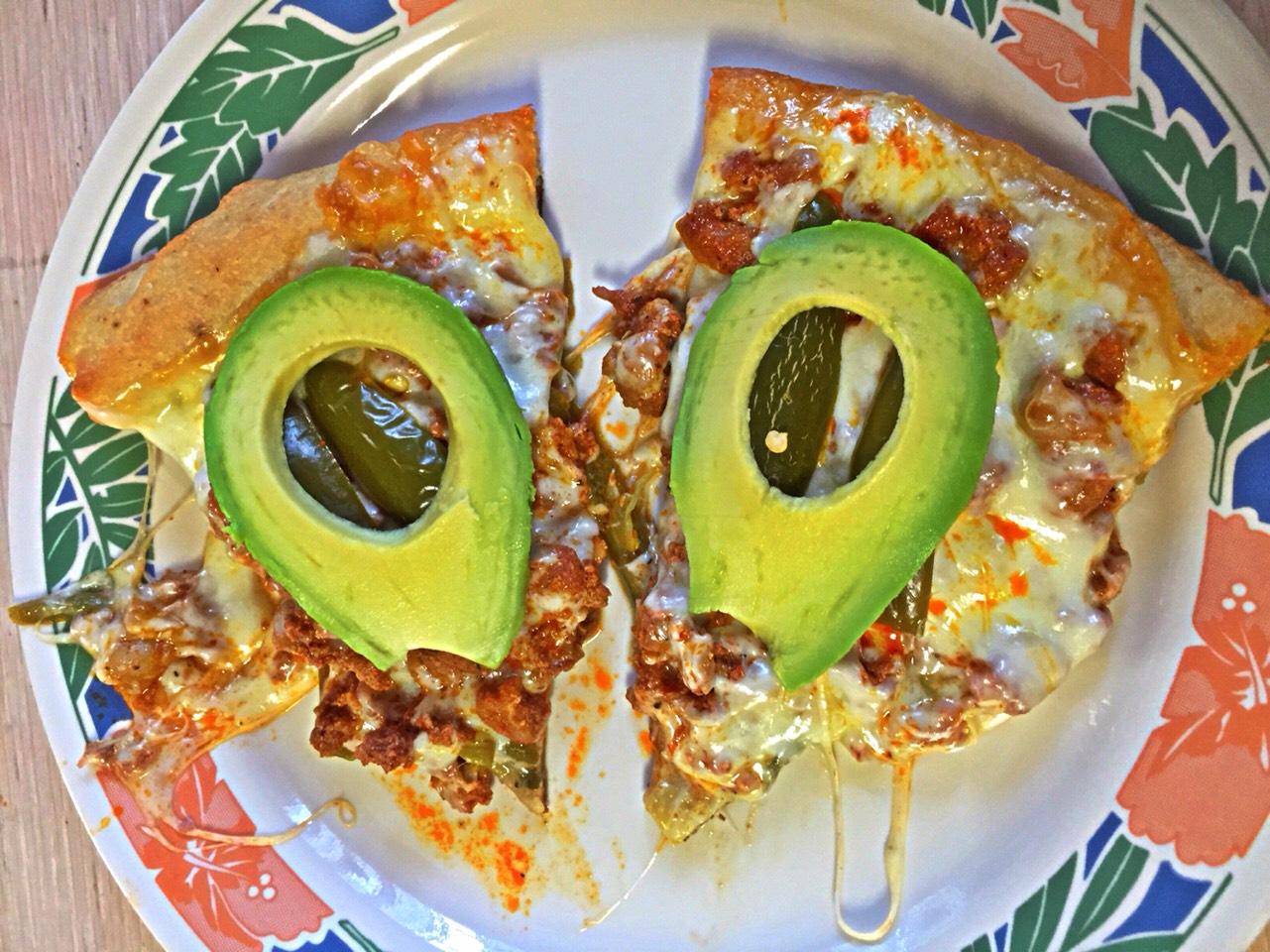 Garnish with fresh avocado.