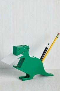 8. This memosaurus desk organizer ($9).