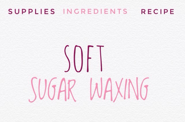 The first type is called soft sugar wax* + is amber in color, sticky + a little thicker than the consistency of honey. It's a bit messy when you're first learning how to use it, but after some practice it isn't too bad to deal with.  *I prefer soft sugar wax because, for me, it seems easier to use this type of wax with thestrips. To be fair, I've only tried to other type (hard sugar wax) once, + it was after I'd been using soft wax for several months ~ so, maybe I didn't give it a fair chance.