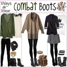 "Wear combat boots with more ""hipster outfits"". They show of your edgy personality"