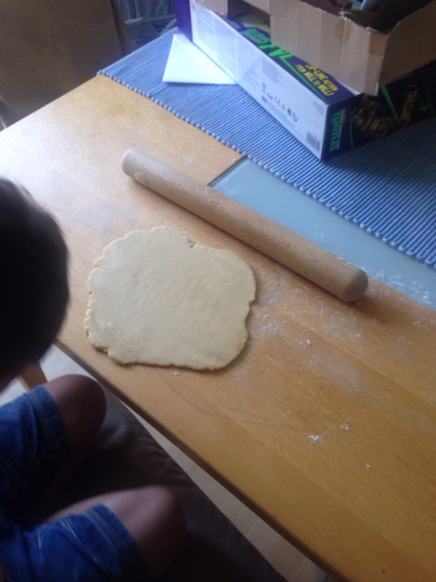 In chilled on a floured surface roll out the dough