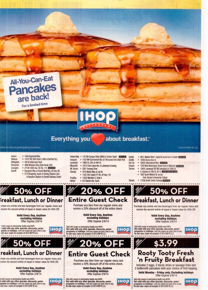 IHOP takes any expired coupons all you have to do is show the cashier this picture and they would give you your discount it works at any IHOP enjoy your pancakes