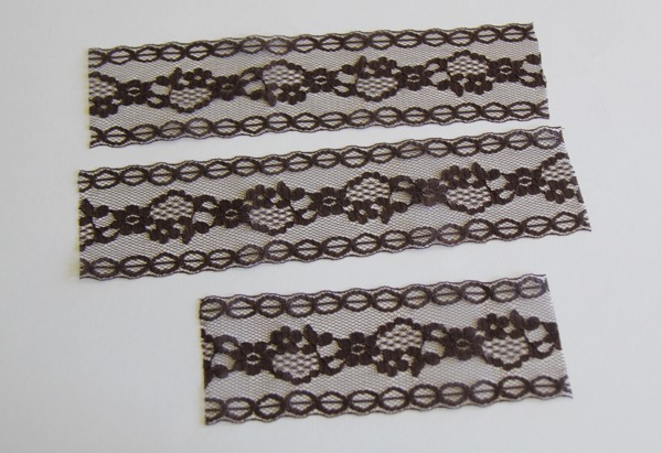 Cut your lace according to how big you want the bow to be.