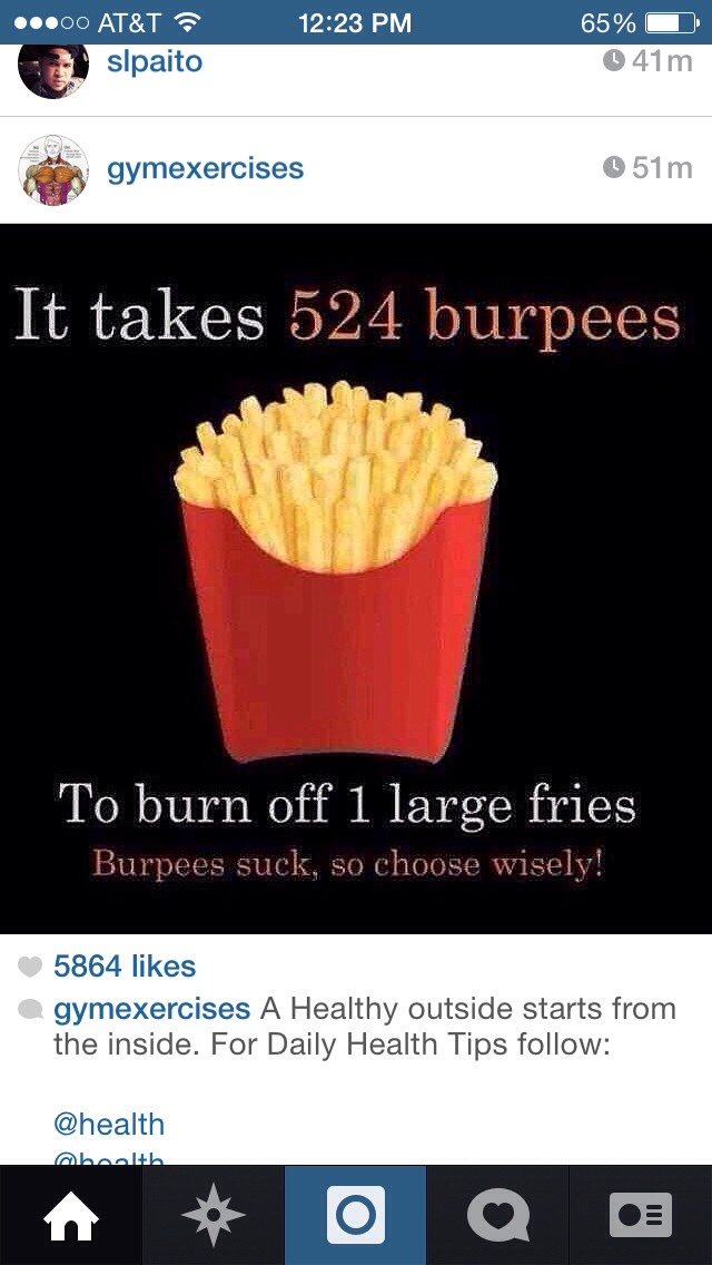 Like if you agree it's better to stay away from this. I know it's so yummy. But 524 burpees.. Hmmm I'm all set