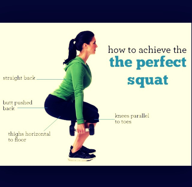 • Make sure that you're doing the squat the right way.  • Can also use water bottles (optional)  - double tap to view full image.