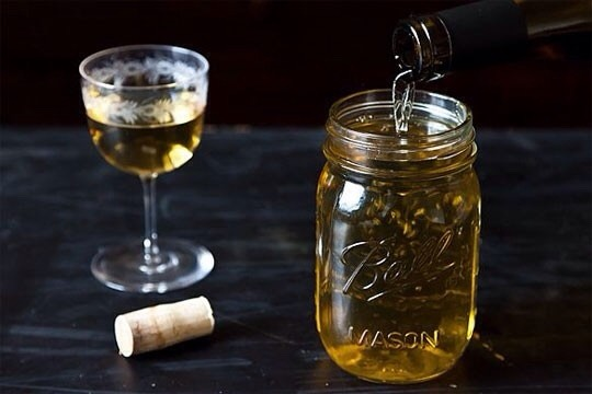3. Use a mason jar to store leftover wine.