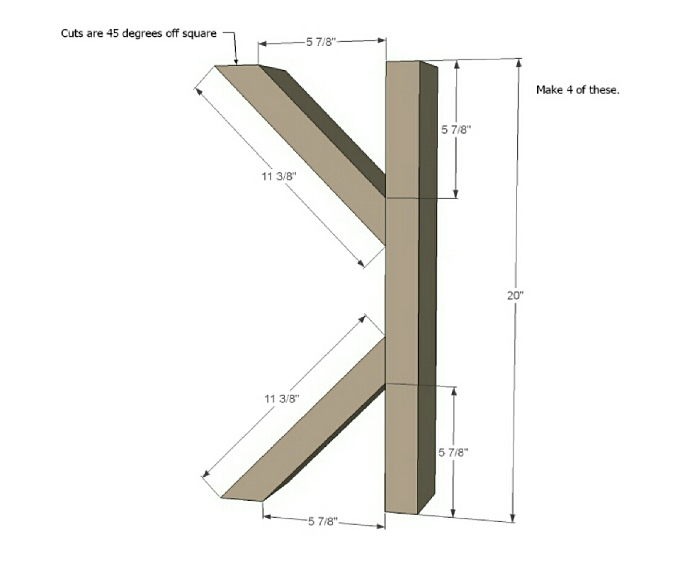 Step 1:  Build four of these. I'd simply countersink screws from the backs into the ends of the cross braces.