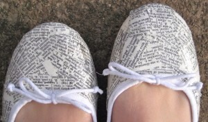 Use to design ur shoes with help of mod podge
