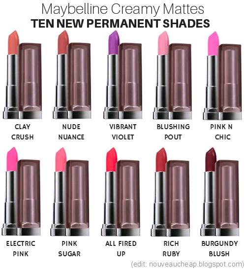 These lipsticks are creamy and MATTE. Which is super hard to find for drugstore. They often add new shades. So there is a variety to choose from