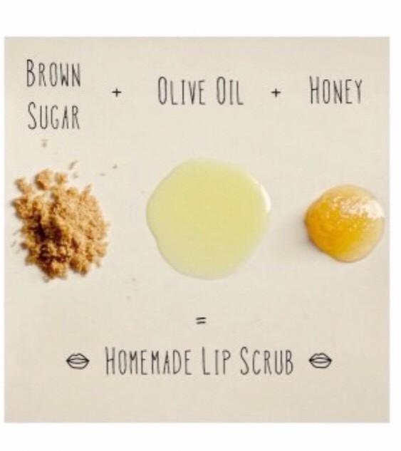 Mix a teaspoon of brown sugar, olive oil and honey for homemade lip scrub!