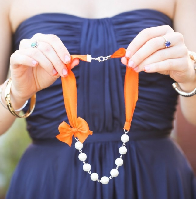 Silk Ribbon Necklace ($33 each in a set of 5)
