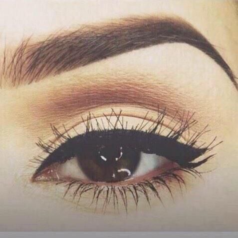 These eyebrows and eyeliner are goals