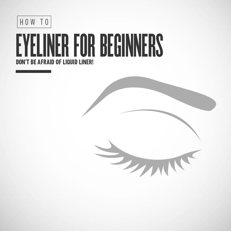 4. If you're just starting out with liquid liner, begin with dots. Then slowly connect them.