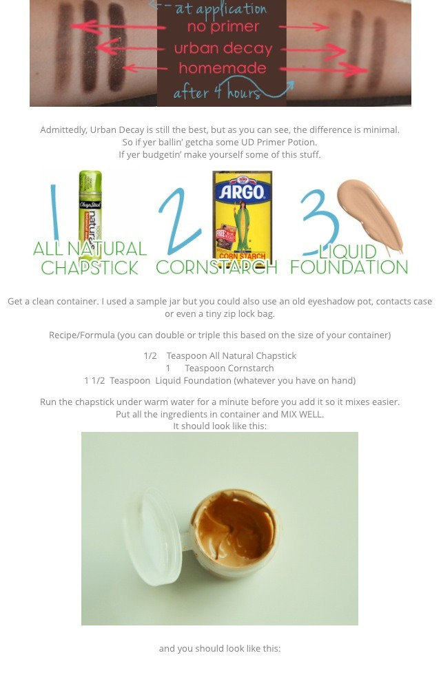 Follow these simple steps to make a good eyeshadow primer!