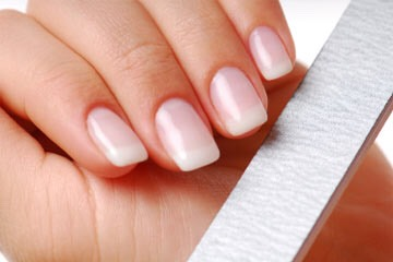 Step 1: Start by cleaning all polish off of your nails Step 2: File nails to desired shape and length and remove cuticles with cuticle remover Step 3: Lightly buff your nails with the nail file to create a rough surface for the gel to stick to