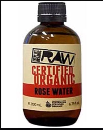1tsp raw organic rose water( make sure its pure rose water)