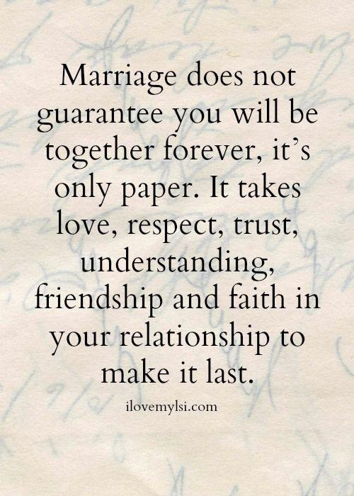yup marriage is more than a piece of paper