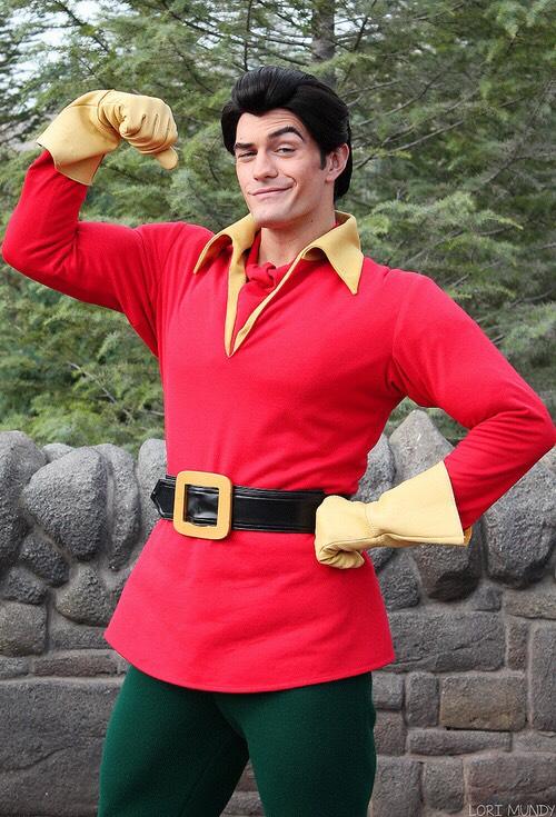 Gaston Can be found outside Gaston's Tavern in Fantasyland.