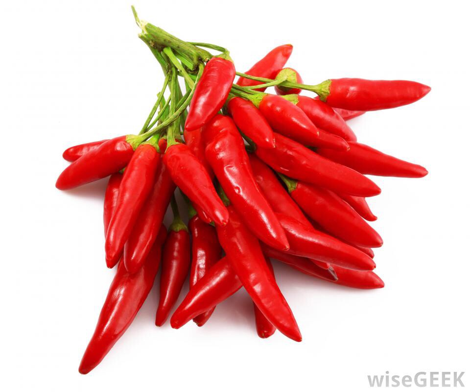 the heat from chili peppers stimulate energy burning and turn white fat to brown