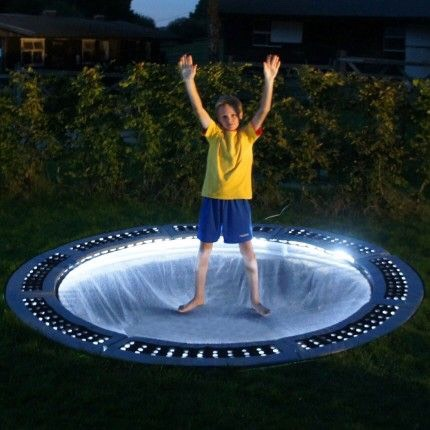 Set up a trampoline for kids to play on while the grown ups talk