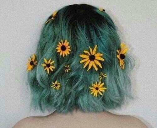 6. Short Haircut with Green Dyed Hair Color: