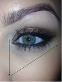 Another under eye tip! Apply concealer (in a lighter colour) in a filled in triangle method using the are indicator above. Make sure to fill it it. Then blend blend blend and top with a finishing powder for a brighter eyed, concealed look!