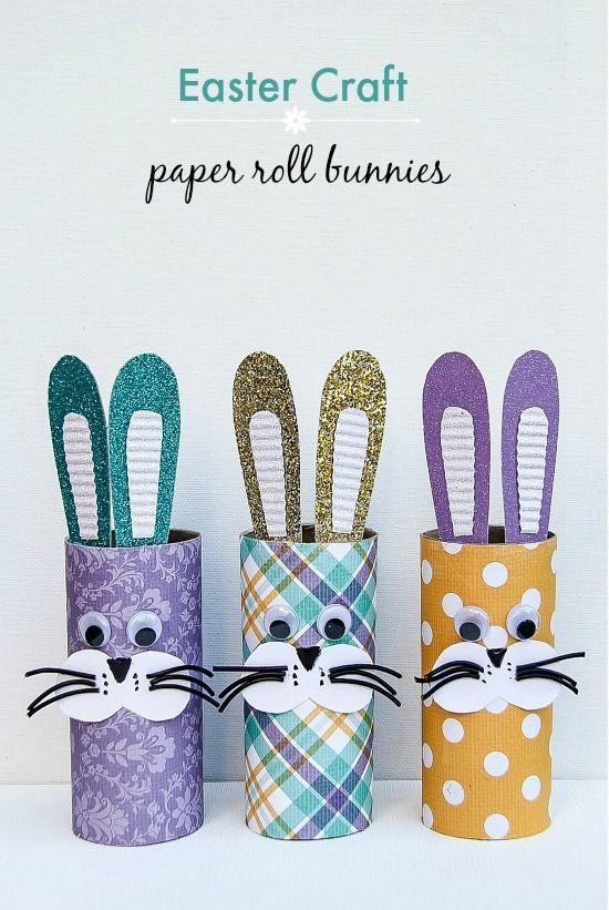 Toilet paper roll easter bunnies for the kids to make