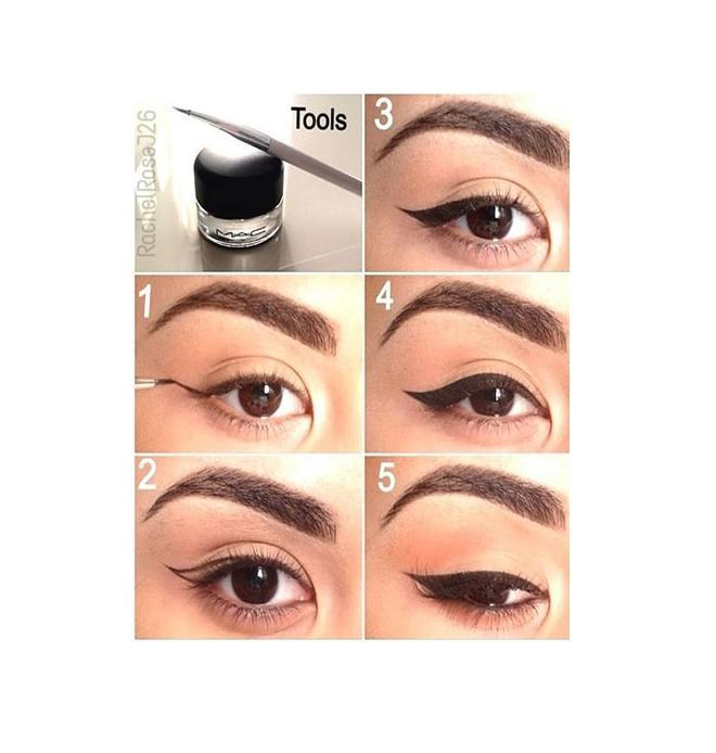 Best done with MAC Fluidline Eye-Liner Gel in Blacktrack