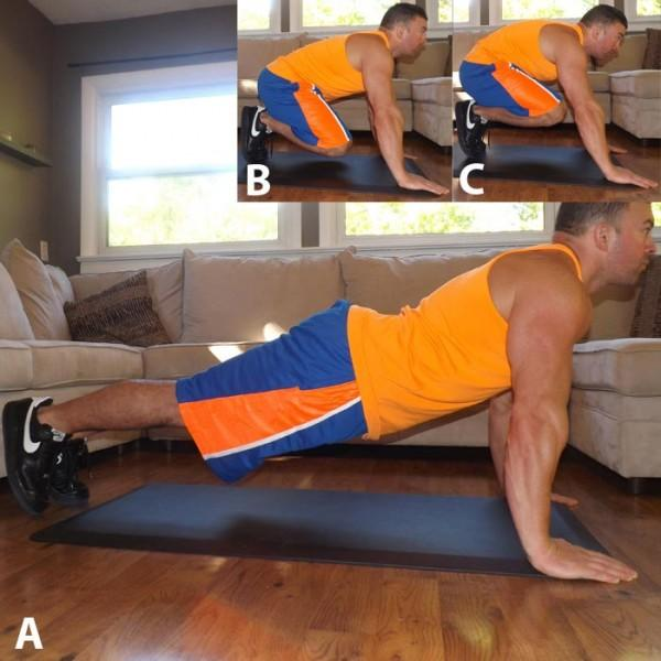 """This move—which can easily be incorporated into a HIIT workout—strengthens the entire core and can help increase your cardiorespiratory endurance,"""" Recommended: Sets: 3 to 4 Reps: 10 to 15"""