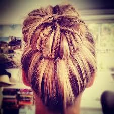 bun which contails small braids