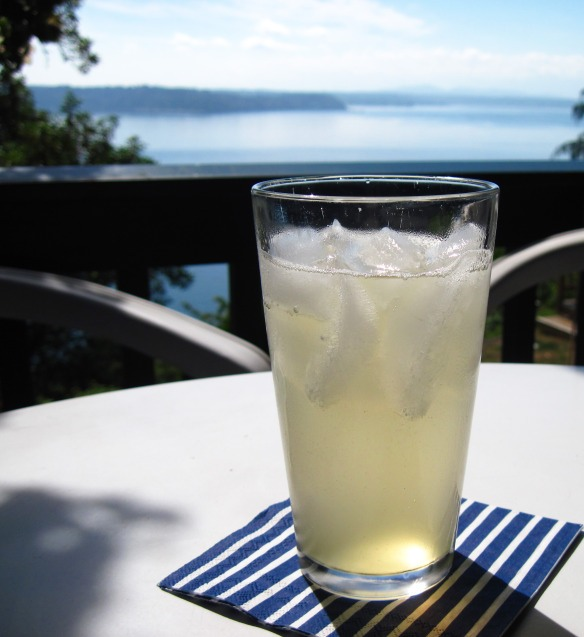 Makes about 2 cups of syrup  ¾ cup fresh ginger, chopped (no need to peel it) 1 cup honey Sparkling water (club soda or seltzer)
