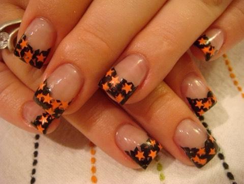Black and orange nails💅🎃👻