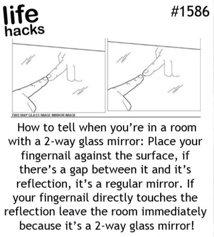 Creepy Mirror Is A Normal, How To Tell If A Mirror Is Double Sided