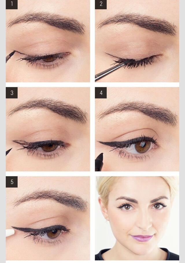 Perfect winged eyeliner look!
