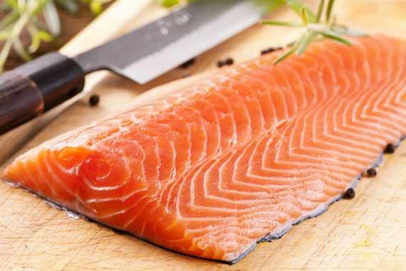 8- Salmon  Salmon is full of good fats, which will form and maintain healthy skin cells. It will also help your skin retain water, thus keeping it hydrated.