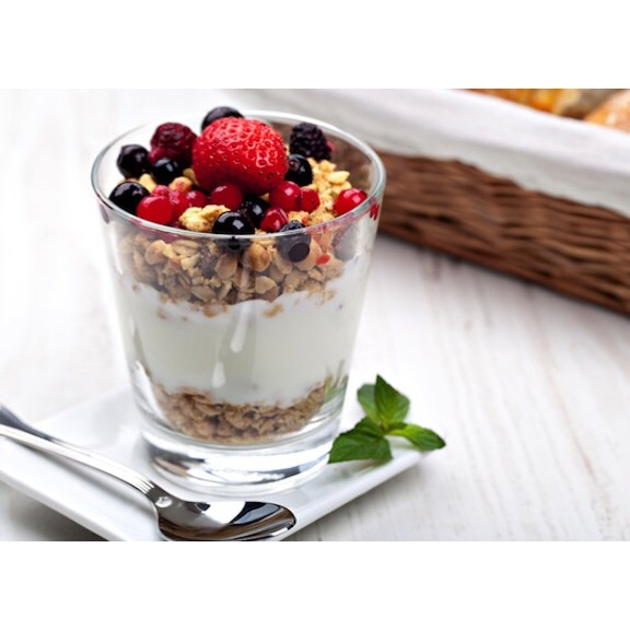 all you need is: vanilla yogurt granola any fruit!
