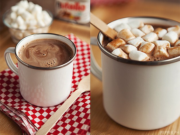 Ingredients: Nutella One Cup [ 240 mL ] of milk Marshmallows Whipped Cream