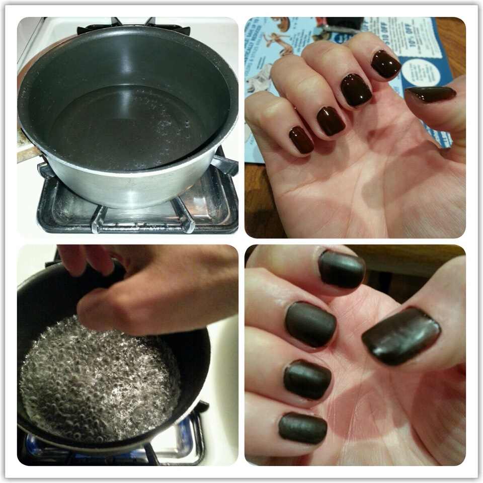 Use steam to matte your nails.