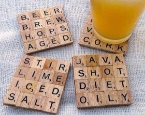 Get some strong wood glue..glue the pieces together..make your own funny words!! Lots of fun and a conversation piece!!