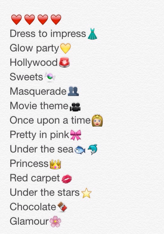 For every girl looking forward to their sweet 16 but stuck on a theme, these are my favs!