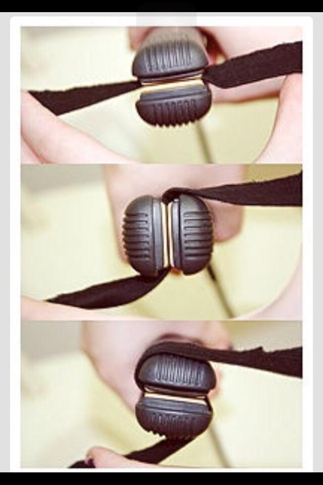 curling hair using a straightener!