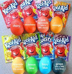 cool Kool-Aid dyed eggs the kids will love