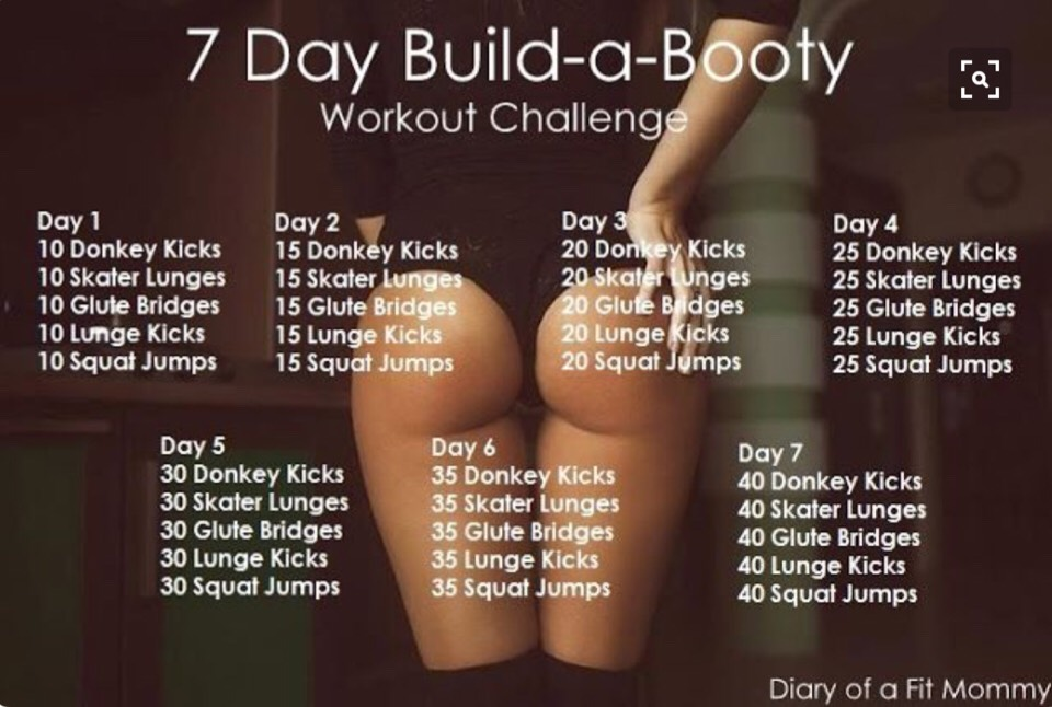 All you have to do is this for 7 days to start to get a better butt 😊😋