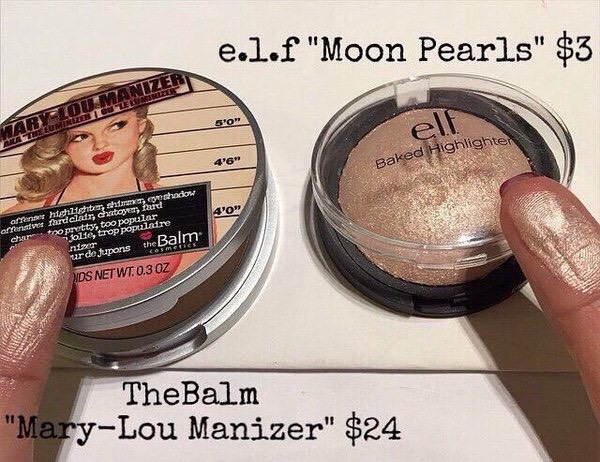 Highlighter junkies around the world adore the mary Lou Manizer! This elf baked highlighter in moonlight pearls is very long wearing, pigmented, and only $3. I also use this shade as a shadow it's gorgeous