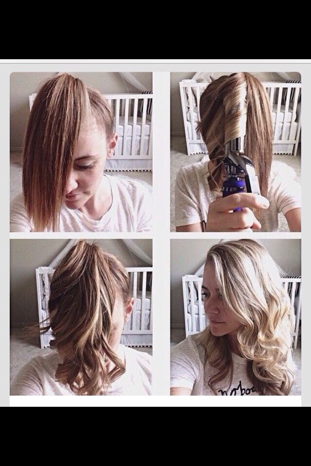 in a hurry? great way to curl your hair