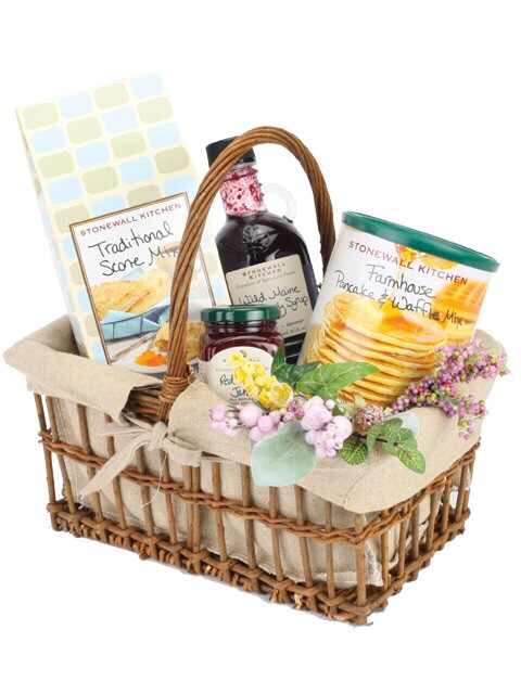 New England breakfast gift basket